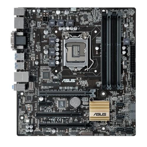 ASUS B150M-C, 1151, B150, 4xDDR4, PCIe 3.0x16, SATAIII, USB3.0, HDMI/DP/DVI-D/D-Sub, uATX