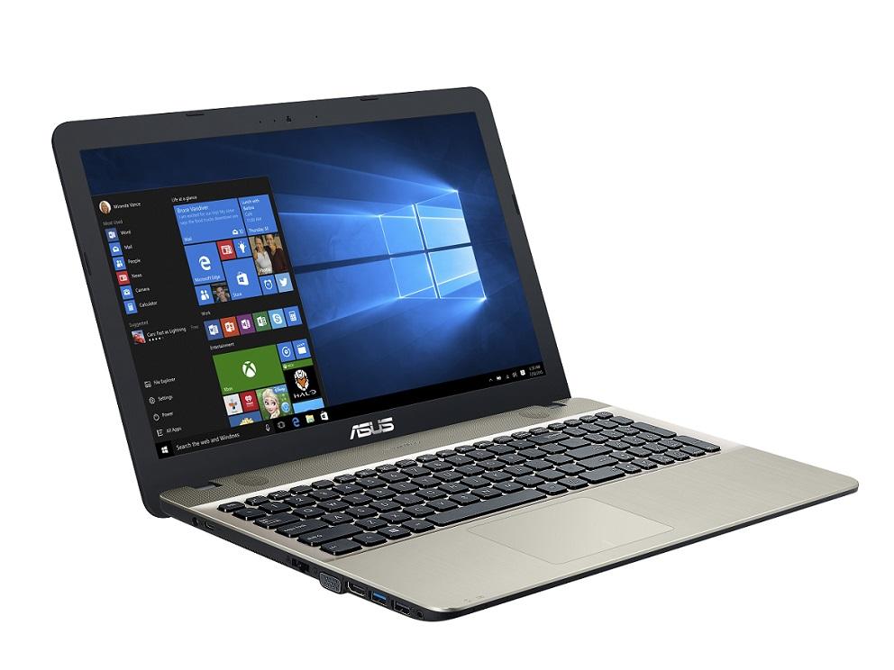 """ASUS X541UJ-GQ438T i5-7200U/4GB/500GB/DVDRW/GeForce 920M/15,6"""" HD LED matný/W10 Home/Black/Black&gold"""
