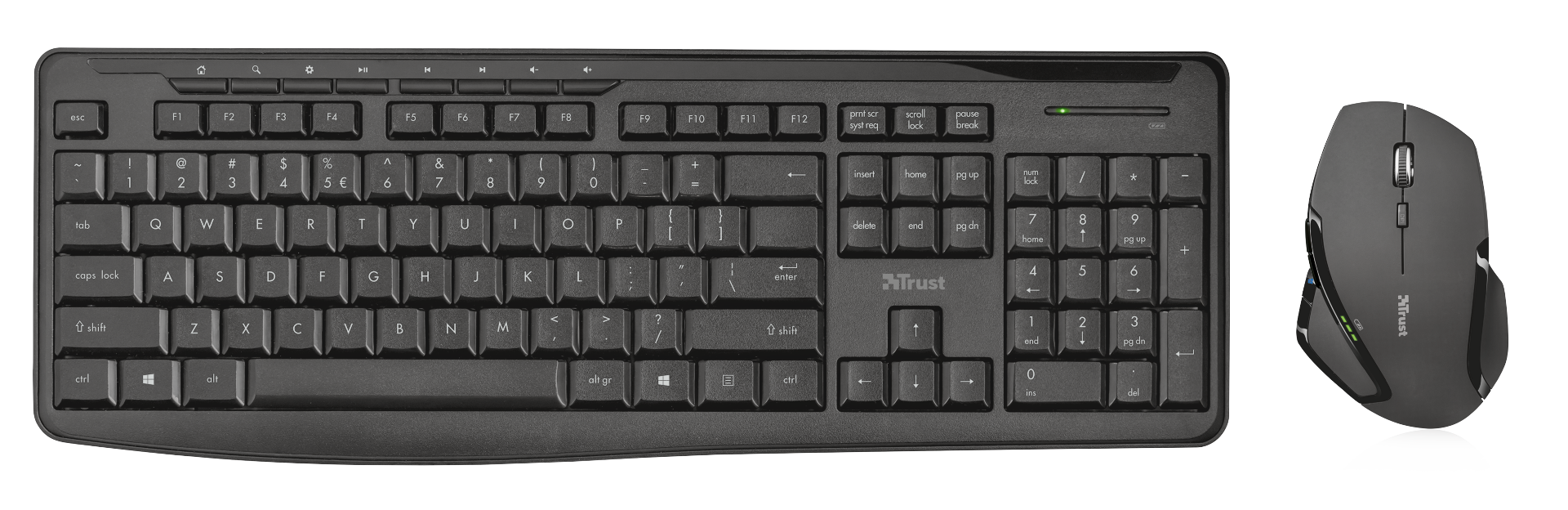 set TRUST Evo Silent Wireless Keyboard with mouse CZ/SK (tichá klávesnice)