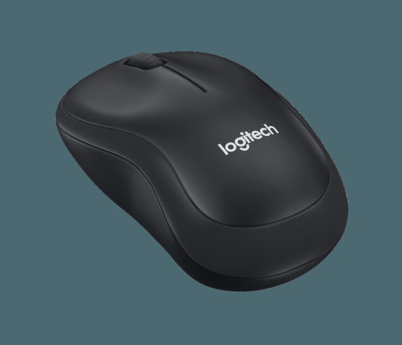 Logitech myš M220 Silent, optická, bezdrátová, 3 tlačítka, 1000dpi - černá