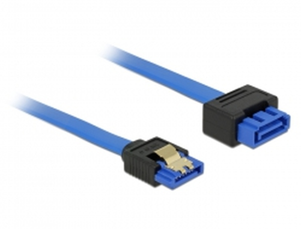 Delock Extension cable SATA 6 Gb/s receptacle straight > SATA straight 10cm blue