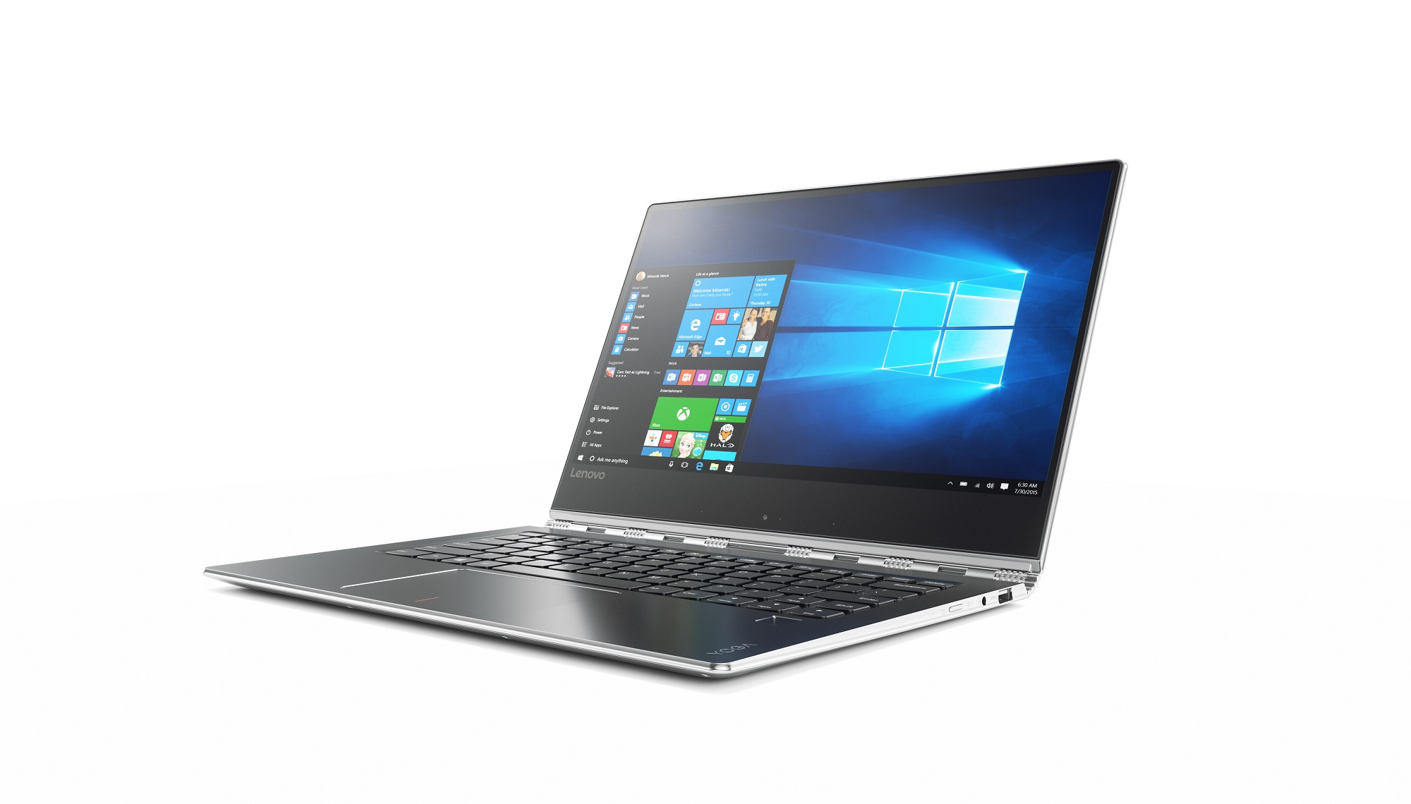 Lenovo Yoga 910 13.9 UHD IPS MULTI-TOUCH/I7-7500U/1TB SSD/16G/INT/W10 PRO stříbrný