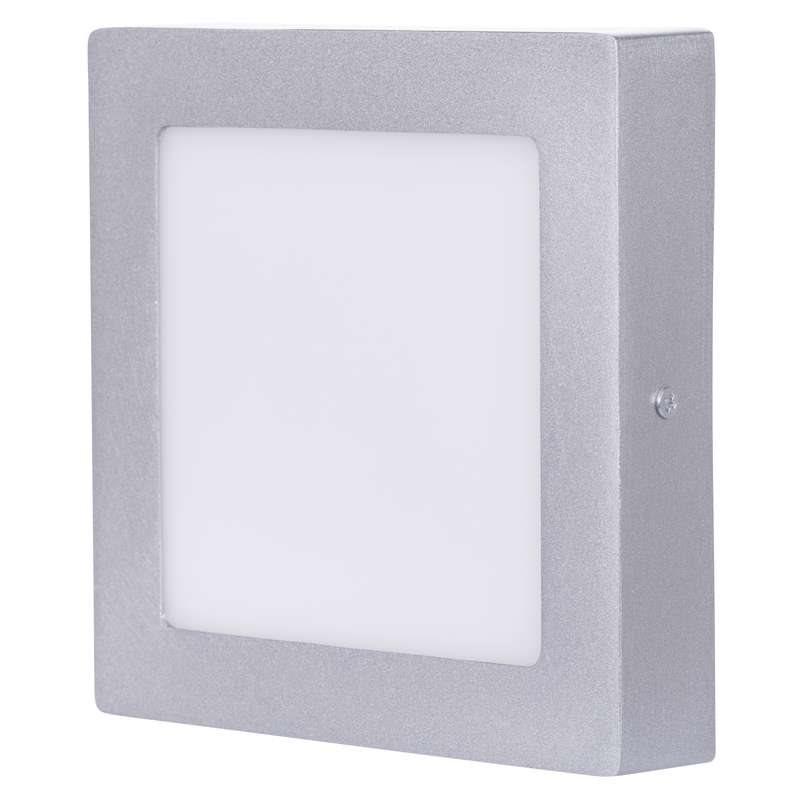 Emos přisazené LED svítidlo, čtverec 12W/70W, NW neutrální bílá, IP20, stříbrné