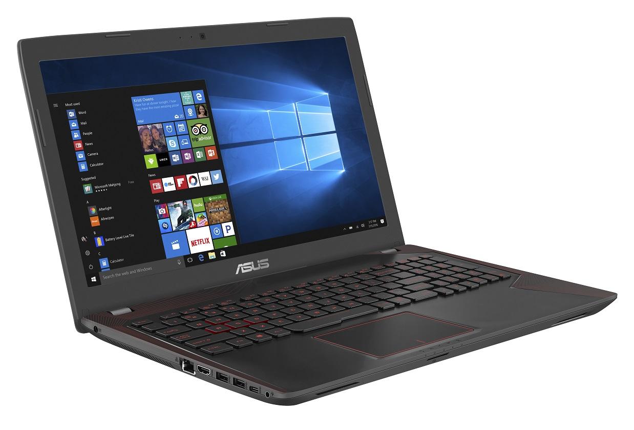 "ASUS FX553VD-FY537T i5-7300HQ/8GB/1TB 7200 ot./DVDRW/GeForce GTX 1050/15.6"" FHD LED matný/W10 Home/Black"