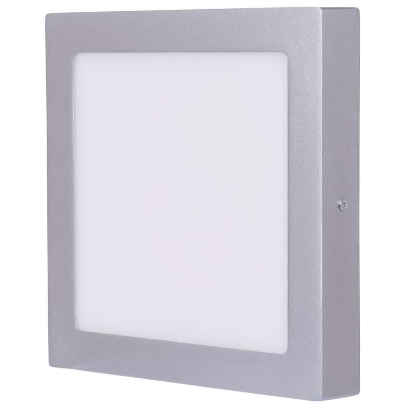 Emos přisazené LED svítidlo, čtverec 18W/100W, NW neutrální bílá, IP20, stříbrné