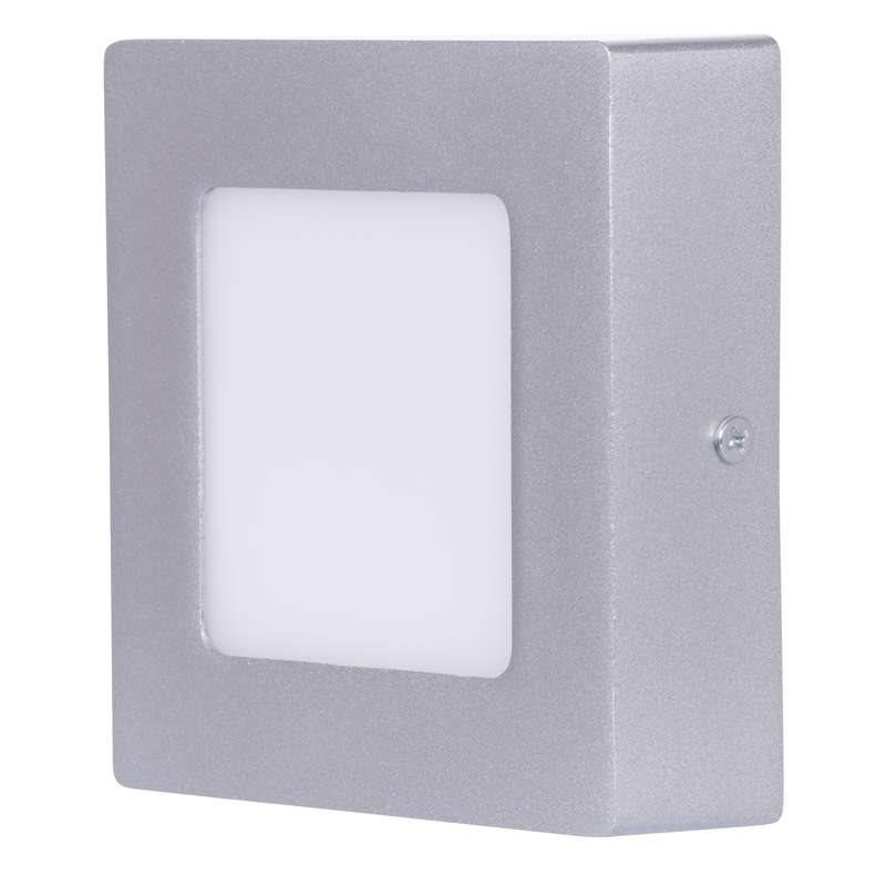 Emos přisazené LED svítidlo, čtverec 6W/40W, NW neutrální bílá, IP20, stříbrné