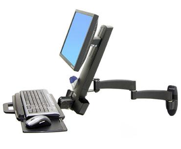 ERGOTRON 200 Series Combo Arm černý, nástěnný držák LCD, klávesnice+ myš