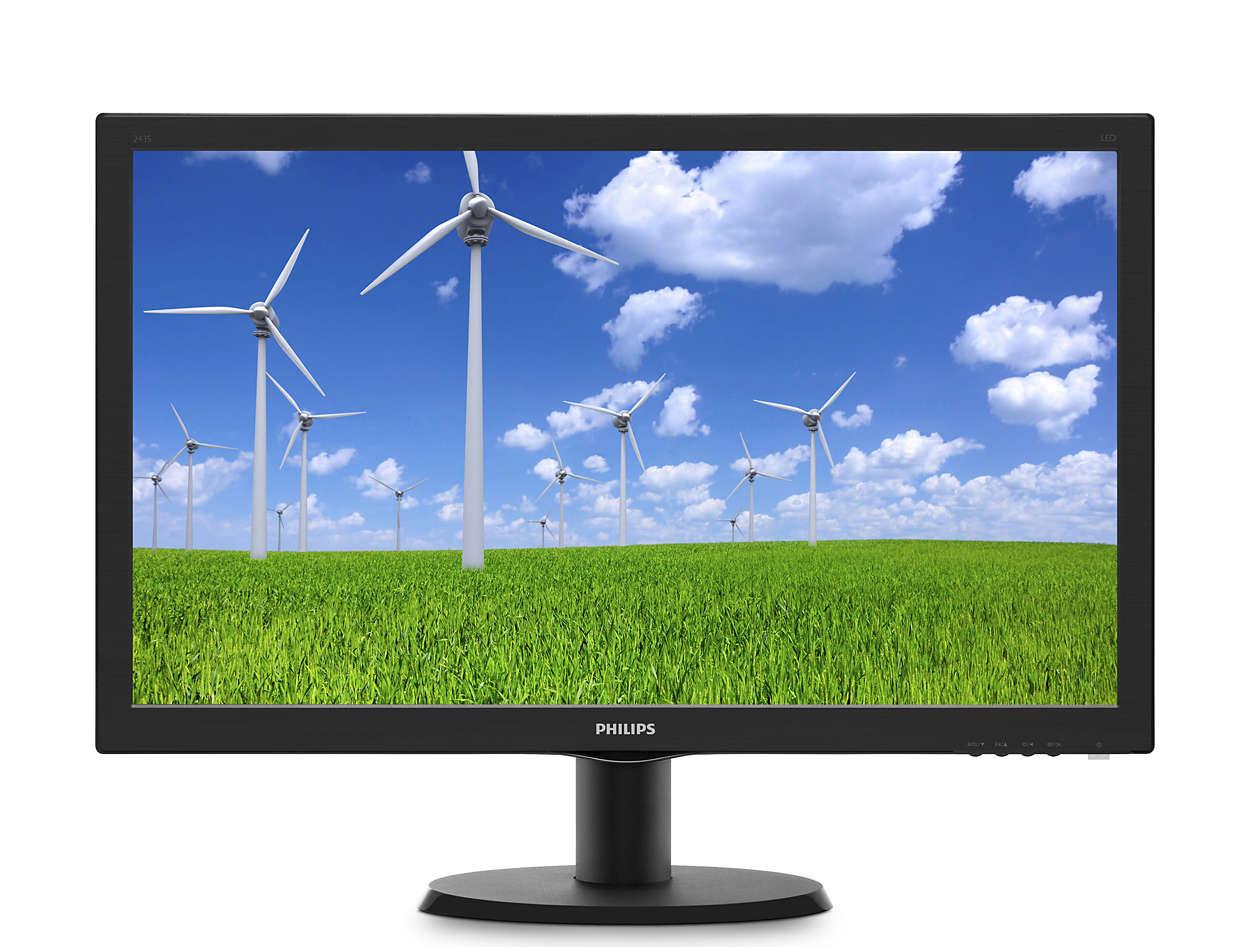 "Philips LCD 243S5LSB5 23,6""wide/1920x1080/1ms/10mil:1/250cd/VGA/DVI/LED"