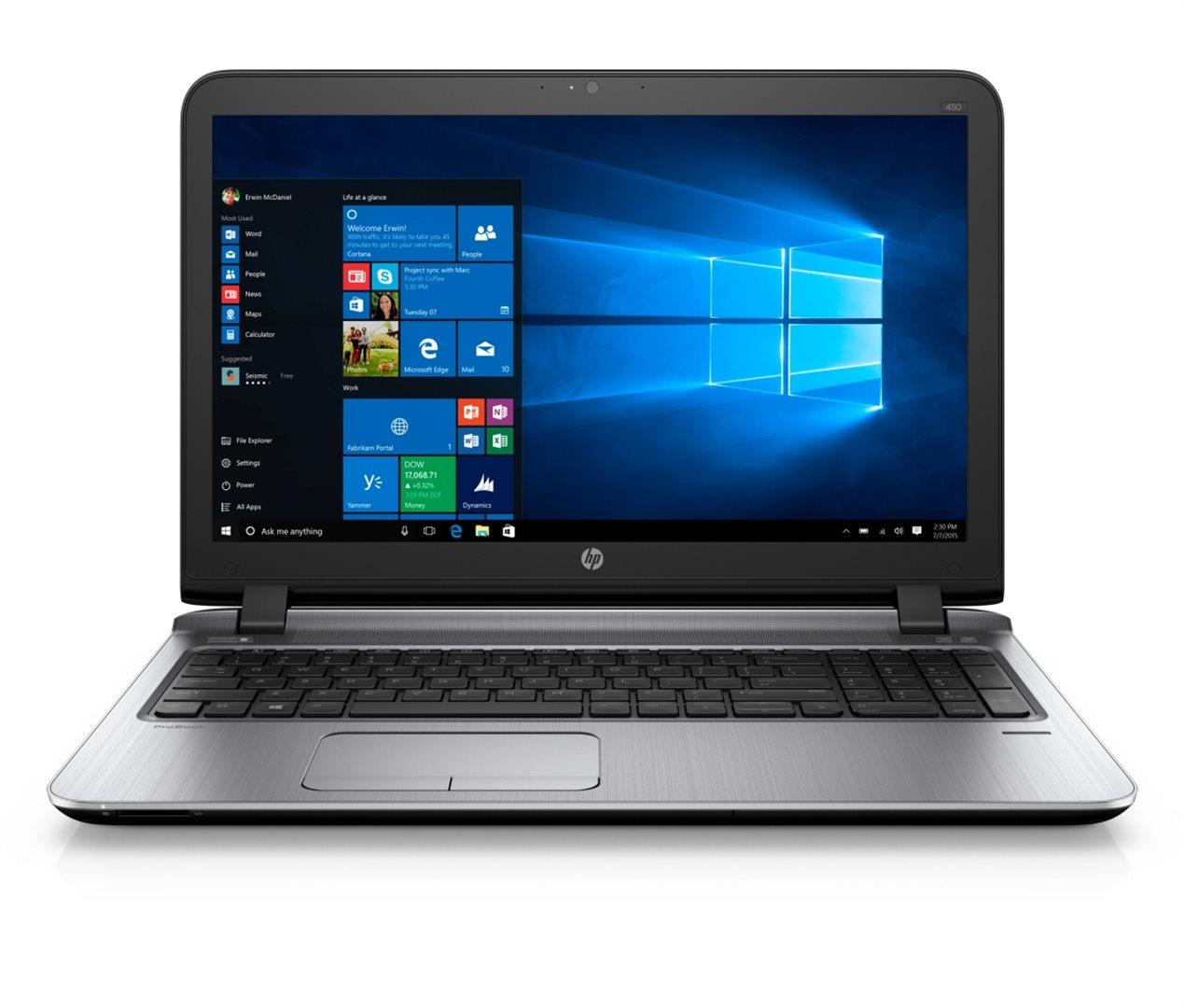 """HP ProBook 450 G3 15.6"""" HD/i3-6100U/4GB/500GB/DVD/VGA/HDMI/RJ45/WIFI/BT/MCR/FPR/1Rservis/7+10P"""