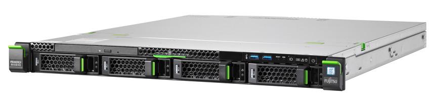 Fujitsu PRIMERGY RX1330M3, LFF,E3-1220v6 4C/4T 3.00 GHz/8GB DDR4/2xHD SATA 6G 1TB 7.2K/DRW/Hot-plug SV