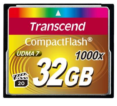 Transcend 32GB CF (1000X) paměťová karta