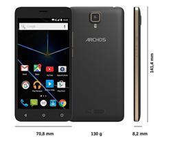 "ARCHOS 50D Oxygen 4G, 5.0"" 1920x1080 FHD, 1.3GHz 8C,2/16GB,Android 5.1, 5+13mpx,LTE,MicSD,Dual SIM,2100mAh, černo/zlatý"