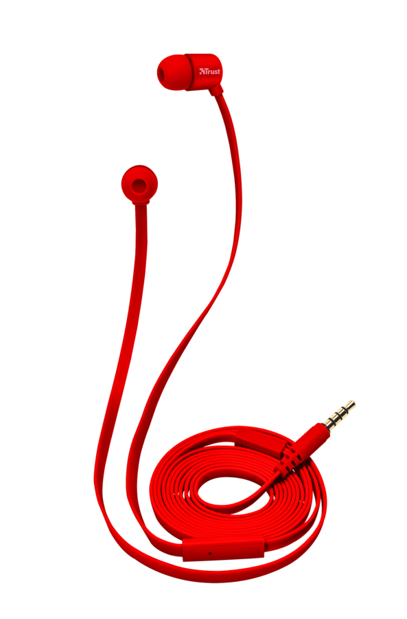 sluchátka do uší TRUST Duga In-Ear- red