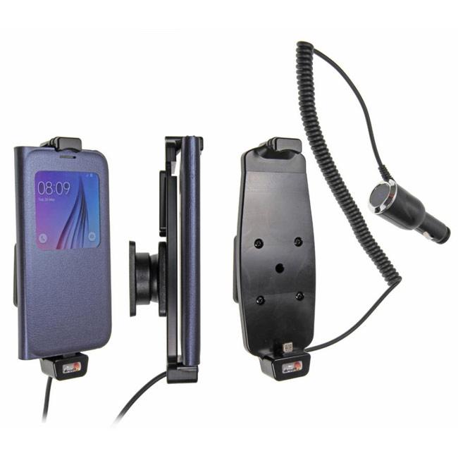Brodit držák do auta na Samsung Galaxy S6/S6 Edge v pouzdru, s nabíjením z cig. zapalovače