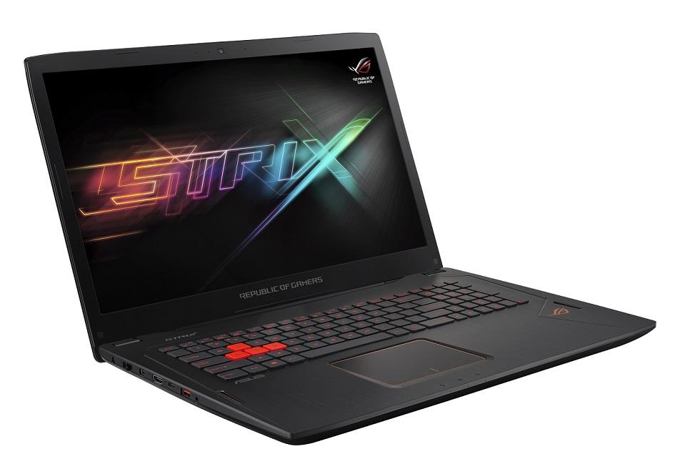"""ASUS GL702VM-GC142T i7-7700HQ/16GB/256 GB SSD M.2+1TB 7200 ot./GeForce GTX1060/17.3"""" FHD LED matný/W10 Home/Black"""