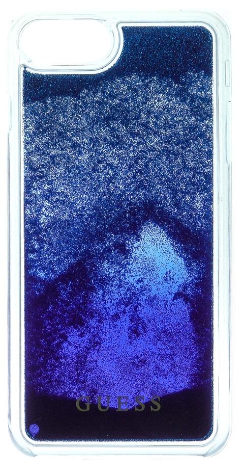 Guess Liquid Glitter Hard Pouzdro Blue Degrade pro iPhone 6/6S/7