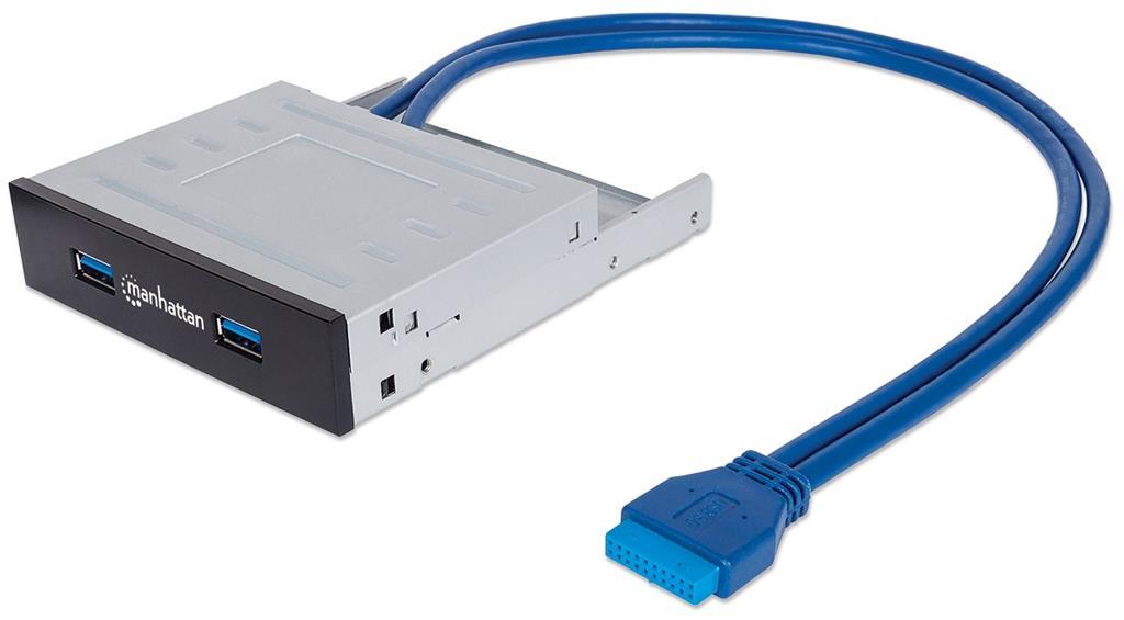 Manhattan Přední panel 3,5'' SuperSpeed USB 3.0 2 porty