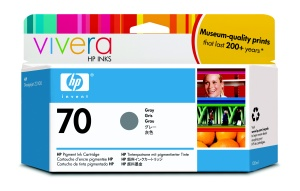 HP 70 Grey DJ Ink Cart, 130 ml, C9450A