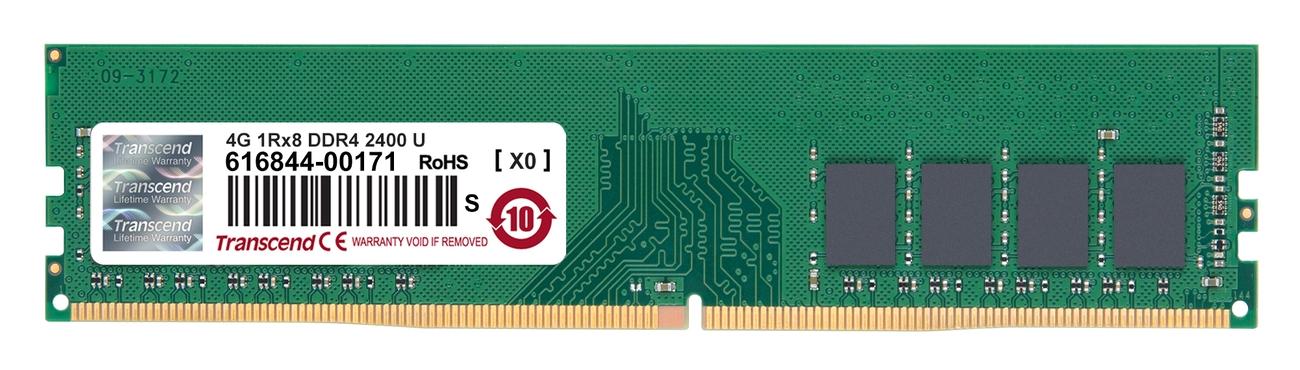 Transcend paměť 4GB DDR4 2400 U-DIMM (JetRam) 1Rx8 CL17