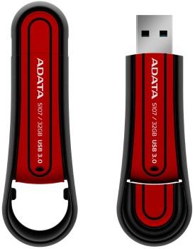 ADATA Superior Series S107 32GB USB 3.0 flashdisk, odolný vodě a nárazu, červený