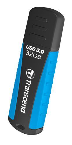 TRANSCEND USB Flash Disk JetFlash®810, 32GB, USB 3.0, Black/Blue (voděodolný, nárazuvzdorný) (R/W 70/18 MB/s)