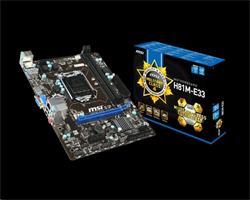 MSI H81M-E33 V2/Intel H81/DDR3/SATA III/USB 3.0/GLAN/VGA/HDMI/sc.1150/mATX