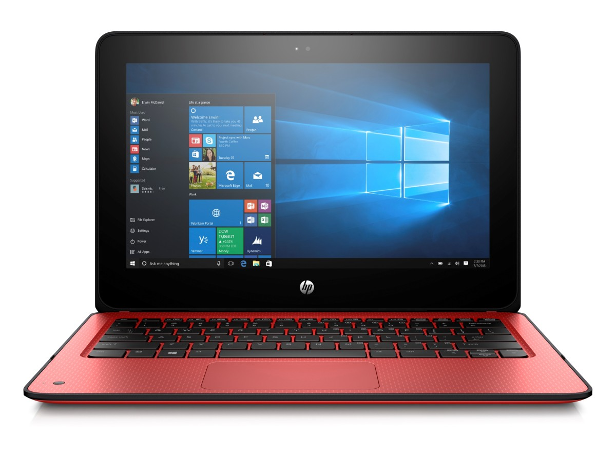 "HP ProBook x360 11 G1, Pentium N4200, 11.6"" HD Touch, 4GB, 128GB, ac, BT, Radiant Red, W10"