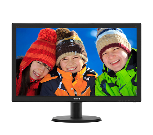 "Philips LCD 243V5LSB5 23,6""wide/1920x1080/5ms/10mil:1/250cd/VGA/DVI/LED"