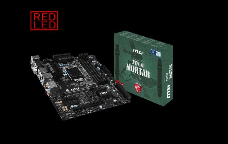 MSI MB Sc LGA1151 Z170M MORTAR, Intel Z170, 4xDDR4, USB3. GbLAN, mATX
