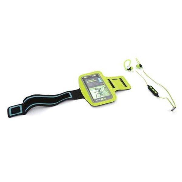 PLATINET sportovní bluetooth sluchátka PM1075 + popruh na paži zelená