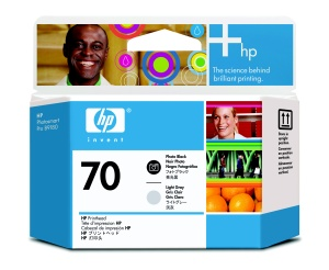 HP 70 Black photografic + Light Grey DJ Printhead, C9407A