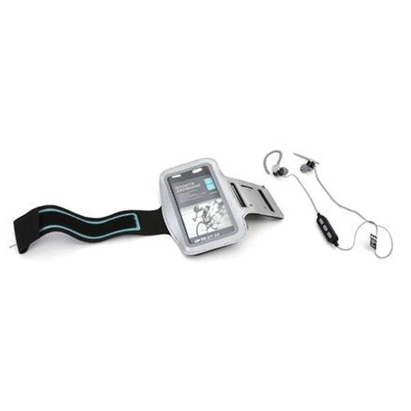 PLATINET sportovní bluetooth sluchátka PM1075 + popruh na paži šedý