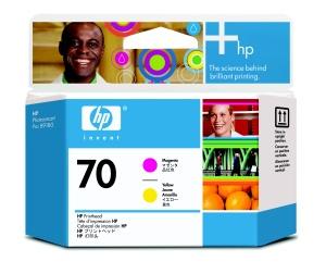 HP 70 Magenta + Yellow DJ Printhead, C9406A