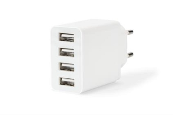 ednet Universal USB Charging Adapter, 4-Port
