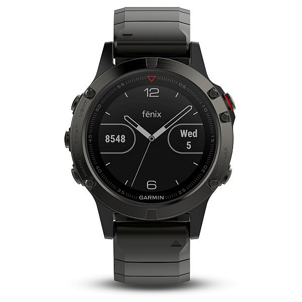 Garmin fenix5 Sapphire Gray Optic, Metal band