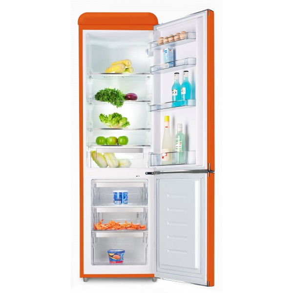 Kombinovaná chladnička Schaub Lorenz SL 250 O oranžová