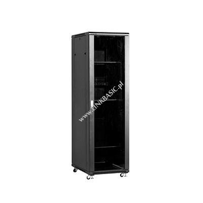 Linkbasic stojící skříně 19'' 42U 600x800mm - černá (prosklené dveře)