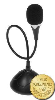 Media-Tech MICCO stolní VoIP mikrofon, pohyblivé rameno, vypínač (ON/OFF)