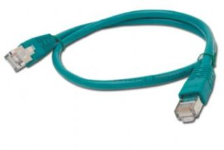 Gembird Patch kabel RJ45, cat. 5e, FTP 0.5m, zelený