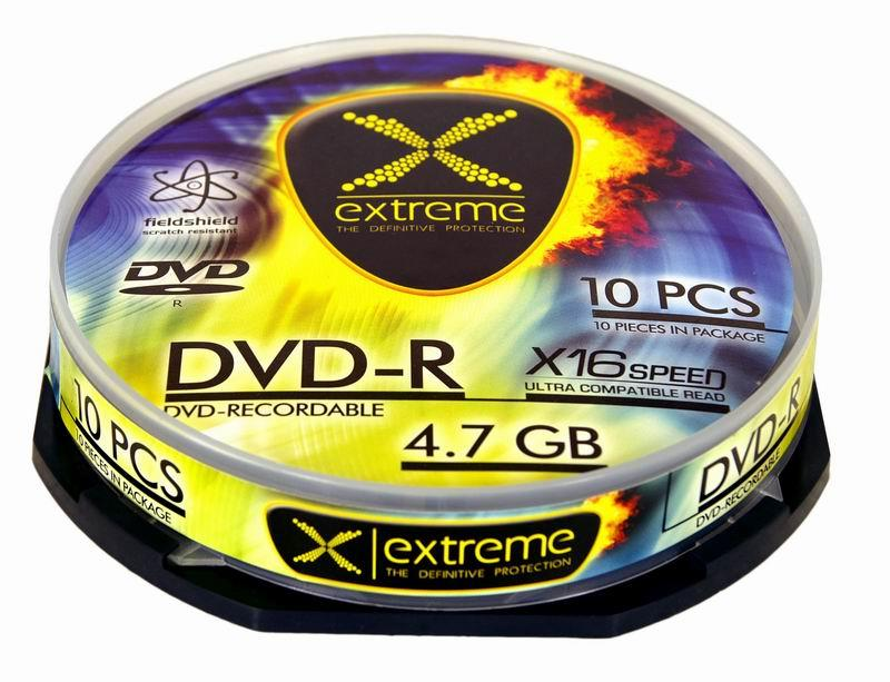 Extreme DVD-R [ cakebox 10 | 4.7GB | 16x ]