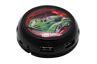USB hub MODECOM UFO, 7x USB TURBO7HUB - HOT WHEELS