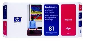 HP 81 Magenta Printhead + Printhead Cleaner, C4952A