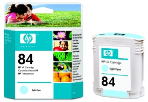 HP 84 Light Cyan DJ Ink Cart, 69 ml, C5017A