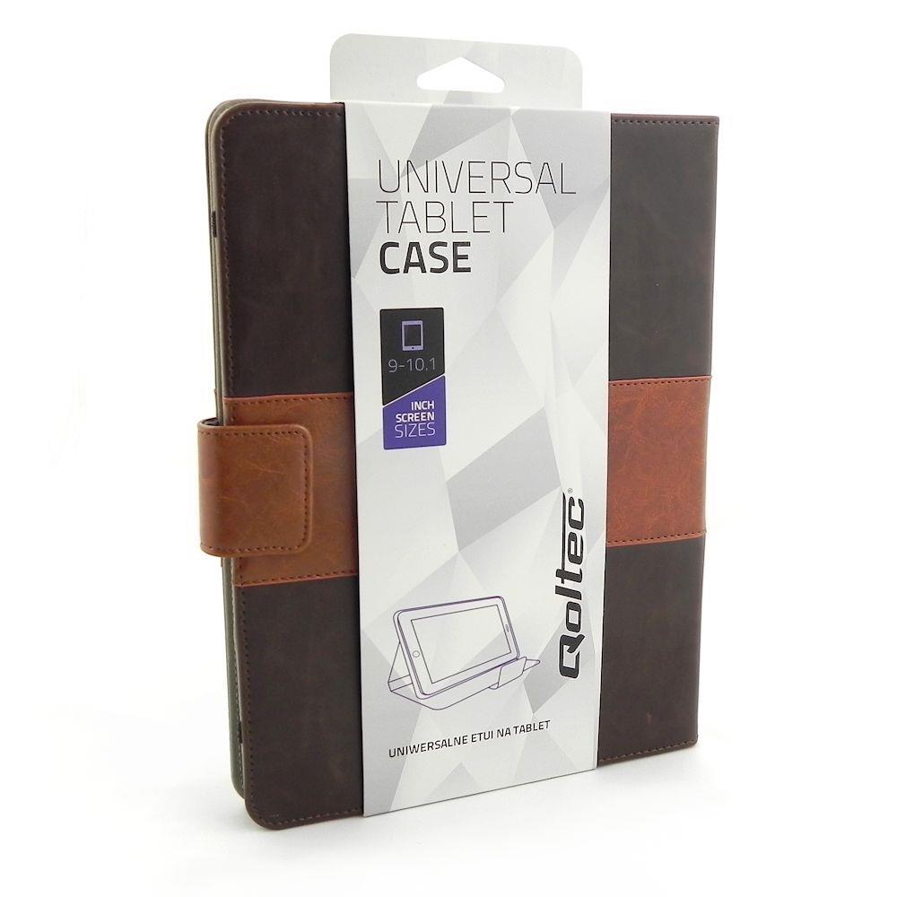 Qoltec High Effective Protection pouzdro pro tablet 9-10.1'', hnědé