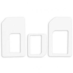 GT SIM adaptér 3v1 (nano-SIM/micro-SIM/SIM), bílý