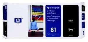 HP 81 Black Printhead + Printhead Cleaner, C4950A