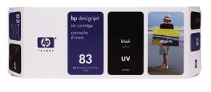 HP 83 Black UV DJ Ink Cart, 680 ml, C4940A