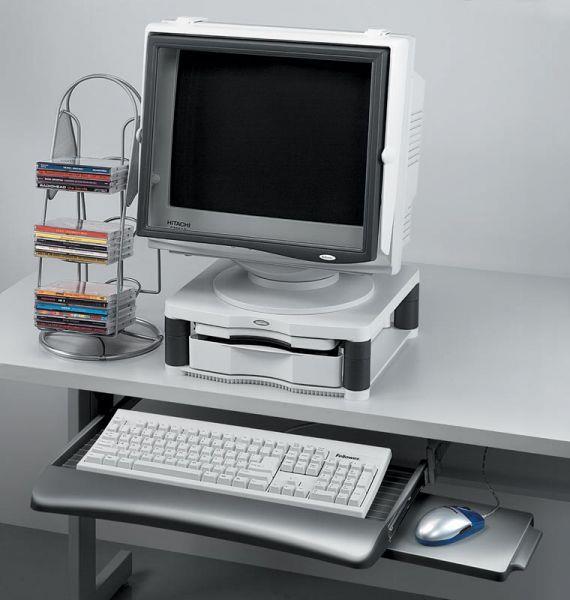 Fellowes závěsná zásuvka na klávesnici s policí na myš, grafitová
