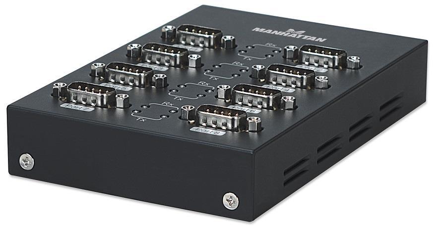 MANHATTAN Adaptér USB - sériový port 8x (USB AM/DB9M(8), RS232)