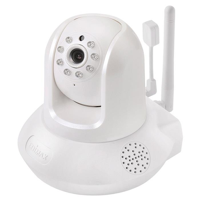 Edimax 720p Wireless H.264 IR PT IP Camera, temp.&hum. sensor, 2-way audio